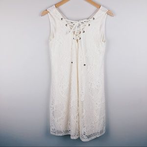ALTAR'D STATE White Cream Lace Up Lace Dress SZ S